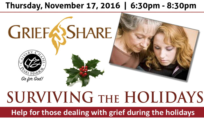 Grief Share Surviving the holidays